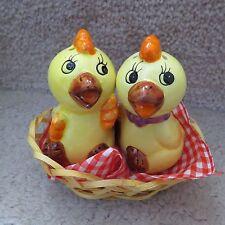 Yellow Chick Ceramic Salt & Pepper Shakers