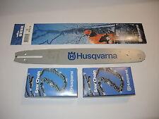 """Original Husqvarna Schiene Schwert  16""""  40 cm  1,3  325"""" + 2x H23 Sägekette"""