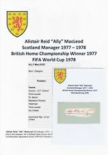 ALLY MacLEOD SCOTLAND MANAGER 1977-1978 RARE ORIGINAL AUTOGRAPH
