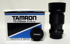 TAMRON f/4-5.3 70-210mm Zoom Lens SLR Film Camera DSLR FUJICA-X w/Shade & Caps