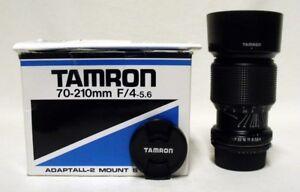 TAMRON f/4-5.3 70-210mm Zoom Lens SLR Film Camera DSLR FUJICA-X w/Shade & Caps