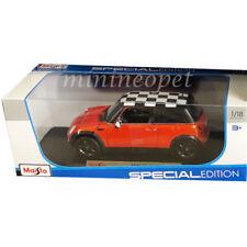 MAISTO 31656 MINI COOPER 1/18 DIECAST MODEL CAR ORANGE