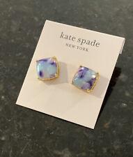 NEW Kate Spade Denim Lilac Multi Gumdrop Stud Earrings WBRUH679