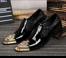 Mens Chic Gold Stitching  Pointed Toe Fashion  Dress Formal Wedding Party Shoes
