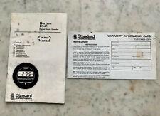 Horizon DS45 Digital Depth Sounder Owner's Manual & Warranty Card 1992
