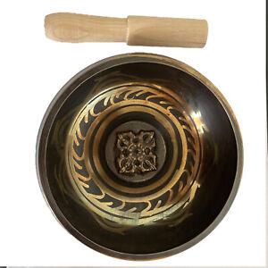 12.5cm Singing Bowl Tibetan Yoga Chakra Buddhism Meditation Hand Hammered Gifts