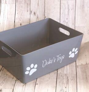 Personalised Pet Toy Storage Box , Cat, Dog, Puppy, Kitten