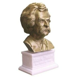Mark Twain 3D Printed Bust Famous American Writer and Humorist Art FREE SHIPPING