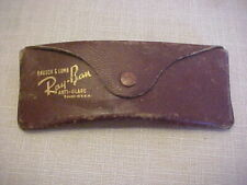 Vintage Ray-Ban Sunglasses Brown Leather Case Bausch & Lomb Anti Glare-CASE ONLY