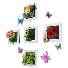 5pcs Mini Square Frame Artificial Flower Hanging Wall Decor Succulent Plants Dec