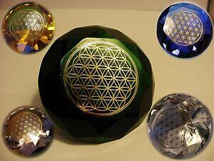 Die Blume des Lebens **Glas Kristall Diamant ** Flower of Life ** versch. Farben