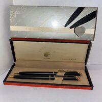Air China Airline Advertising Pen Pencil Set Velvet Case Sleeve Vintage