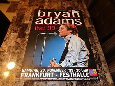 Bryan Adams Rare 1999 On A Day Like Today Tour German Concert Show Gig Poster