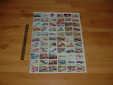 1964 Topps Hot Rods Uncut Sheets (2) Complete Set from Norm Saunders Estate