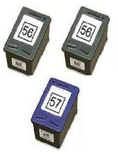 3 Stück Patronen für HP OfficeJet 4110 4215 5510 6110 wie 56 + 57 C9502AE C6657A