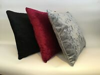 """Crushed Velvet Cushion Luxury Shimmer Chic Scatter 18"""" Square Filled or Cover"""