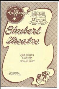 "Gwen Verdon  &  Richard Kiley  ""Redhead   TRYOUT  Playbill  1958  New Haven"