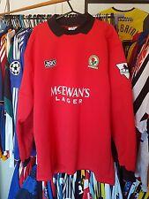 Blackburn ROVERS FOOTBALL SHIRT 1994/95 Portiere GK XL ~ FIORI 1