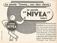 W2936 Crema NIVEA - La parola crema non dice... - Pubblicità del 1937 - Old ad