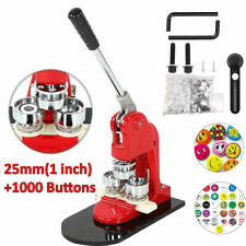"Button Maker Badge Punch Press Machine 1""/2.5cm with 1000 Parts + Circle Cutter"