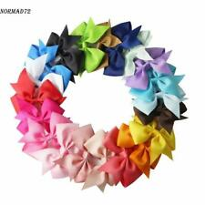 Lot 20pcs Baby Hair Bows For Girls Kids Hair Bands Alligator Hair Clips Nd71