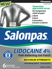 SALONPAS W/LIDOCAINE 4% Pain Relieving Gel-Patch