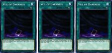3 x Veil of Darkness  SBLS-EN023 Common 1st Ed YuGiOh Cards