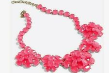 J.CREW NWT Crystal FLORAL CLUSTER Statement Necklace PINK $128
