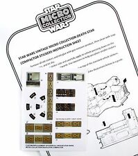 STAR WARS REPLACEMENT STICKERS for MICRO COLLECTION Death Star Compactor