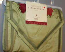 "1 Nos Target Table Runner Fall Harvest olive green velvet leaf 72"" x 12"""