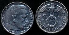 GERMANY THIRD REICH 5 Reichsmark 1936 G Swastika AG