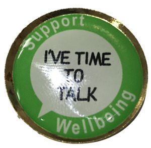 Support Wellbeing - Mental Health 25mm Lapel Pin Badge Be Kind Gift, NHS Helper