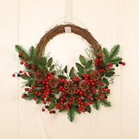 Artificial Christmas Halloween Home Door Decor Indoor Outdoor Garland Wreath