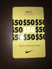 Nike MVP Pass $50 Off 100 For Use 1/3 -1/27 Nike Outlets Only