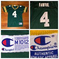 Vtg Champion Green Bay Packers Brett Favre #4 Boy's Jersey Size Medium
