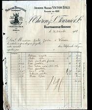 "VILLEFRANCHE-de-ROUERGUE (12) MERCERIE ""Victor BALS / THERON & FOURNIER"" en 1908"