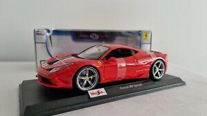 Maisto Ferrari 458 Speciale Diecast Model 1:18 Special Edition Red Sports Car