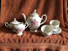 Vintage Winterling Bavaria Germany 15 Piece Demitasse Tea Set Open Rose