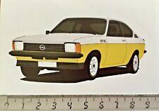 Sticker / Aufkleber, Opel Kadett GT/E, weiß/Gelb, Frontansicht