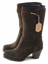 Woolrich Womens Mustang Western Boot Leather Brown Java Size 7.5 M US