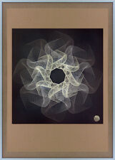 SCREENPRINT indigo GEOMETRIC op HIRST art GRAPHIC design DAMIEN print SIGNED