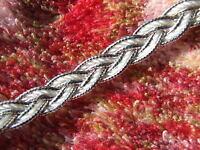 3 Metres 10 mm Braid/Gimp Metallic Silver/White Upholstery Haberdashery Trim