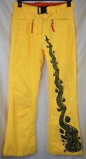Rossignol JC de Castelbajac Gore-Tex Ski Pants Yellow with Dragon Womens Size S