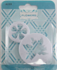 Leaf and Flower Cookie Fondant Gum Paste Cutter 2 pc Set - NEW