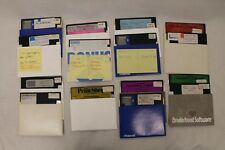 """Lot of 17 5.25"""" Floppy Disk Atari Mostly Print, Paint & Grapics PS Interface"""