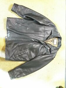 MEN'S WILSONS LEATHER BLACK LEATHER JACKET SIZE L THINSULATE ULTRA Bomber