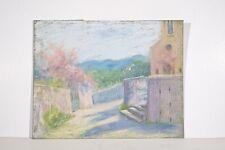 Dessin Original n.s Pastel Marguerite DUBOIS XX° Saint Tropez Paysage Printemps