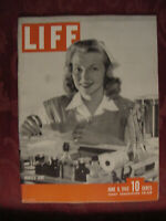 LIFE magazine June 8 1942 WWII Nurses Aide Fred Allen WAAC Wartime Parties