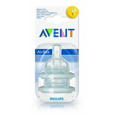 Philips Avent Scf631/27 Classic 2pk Newborn Flow Teat 0m Airflex BPA