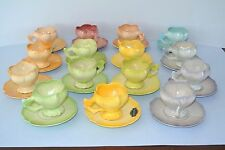 Vintage 1940's Brad Keeler Artwares Tulip Demitasse Coffee set of 15